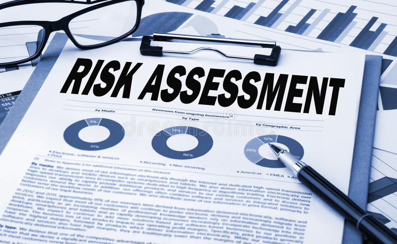 Risk assessment concept stock photography