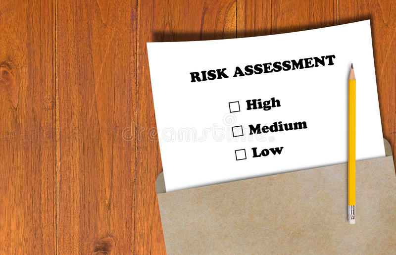 Risk Assessment Concept stock photos