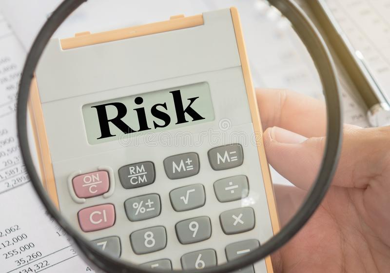 Risk assessment stock image