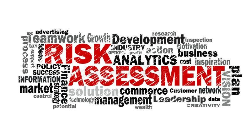 Risk assessment word cloud royalty free illustration