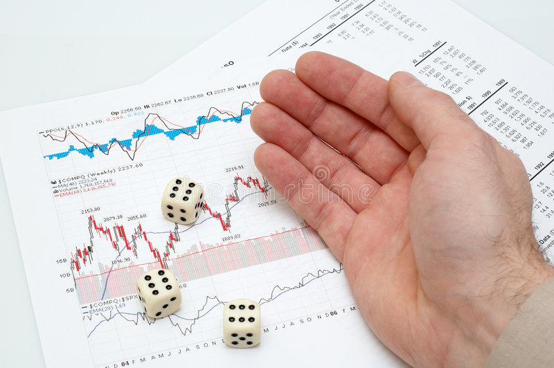 Risk in business. Rolling three dices - conceptual photo - risk in business royalty free stock photo
