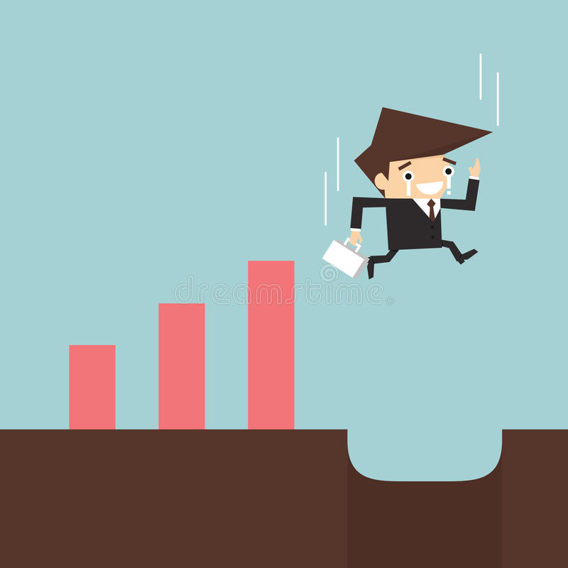 Risk in business vector illustration