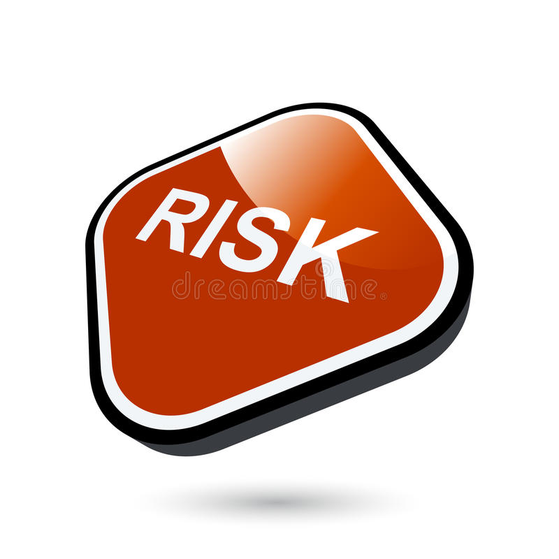 Risk button royalty free illustration