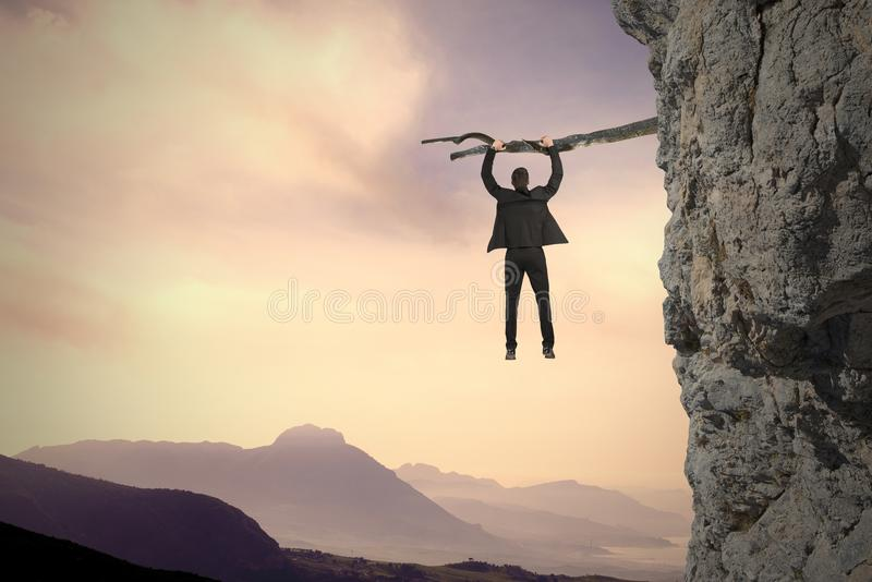 Risk and crisis. Concept of risk and crisis in business stock photography