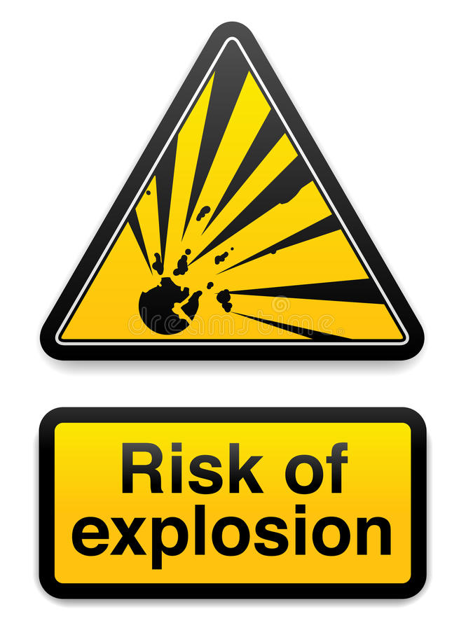 Risk Of Explosion EPS Stock Image