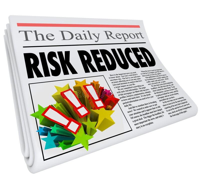 Risk förminskande nivå för fara för tidningsrubrik lågt vektor illustrationer