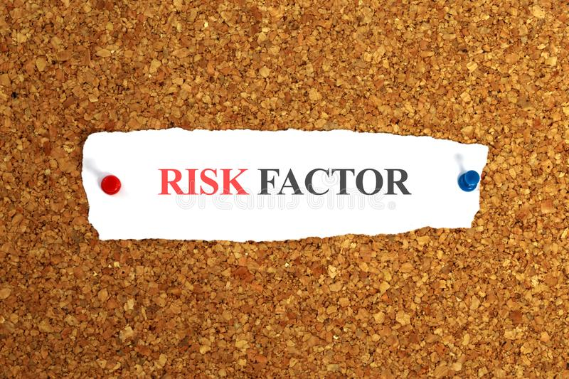 Risk factor on paper stock photography
