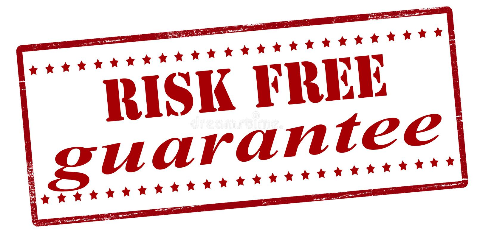 Risk free guarantee. Stamp with text risk free guarantee inside, illustration royalty free illustration