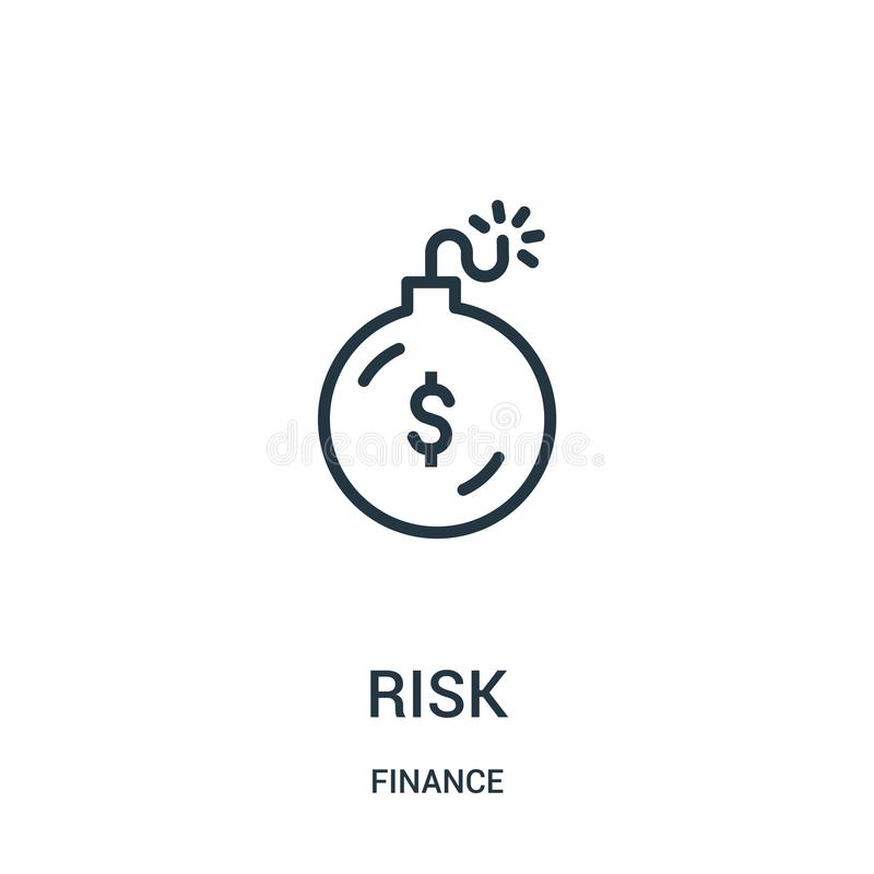risk icon vector from finance collection. Thin line risk outline icon vector illustration. Linear symbol for use on web and mobile vector illustration