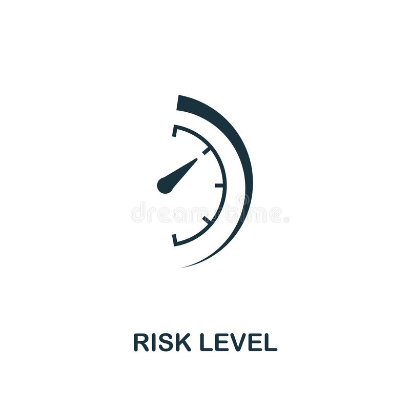 Risk Level icon. Creative element design from risk management icons collection. Pixel perfect Risk Level icon for web. Design, apps, software, print usage royalty free illustration