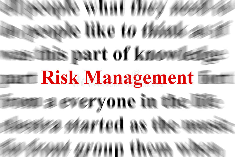 Risk management. A conceptual image representing a focus on the word risk management