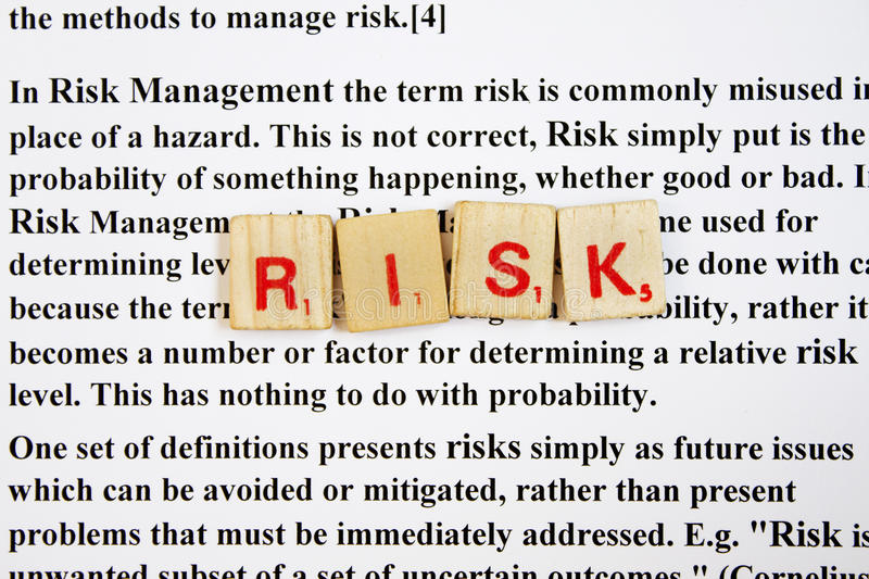 Download Risk management stock photo. Image of scrabble, concept - 24261186