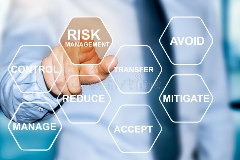 Risk management choice stock photography