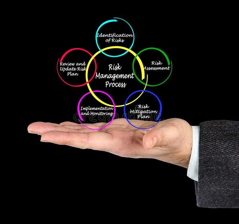 Risk Management Process. Components of Risk Management Process royalty free stock image
