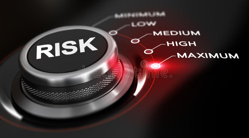 Risk Maximum stock illustration
