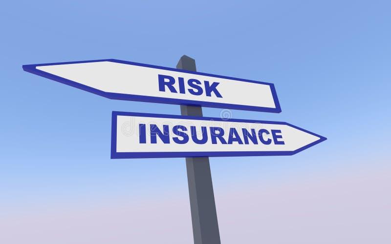 Risk och försäkring royaltyfri illustrationer