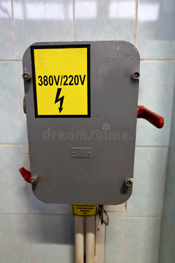 Free Risk Of Electric Shock Stock Image - 83047181