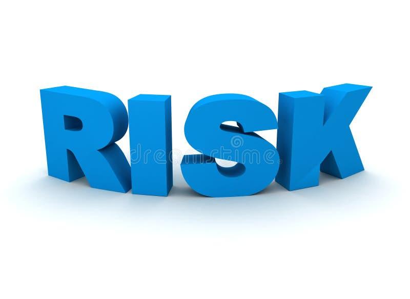 Download Risk Spelled Out In Blue Letters Stock Illustration - Image: 14762052