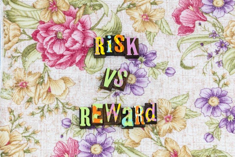 Risk vs belöningstrategi royaltyfri fotografi