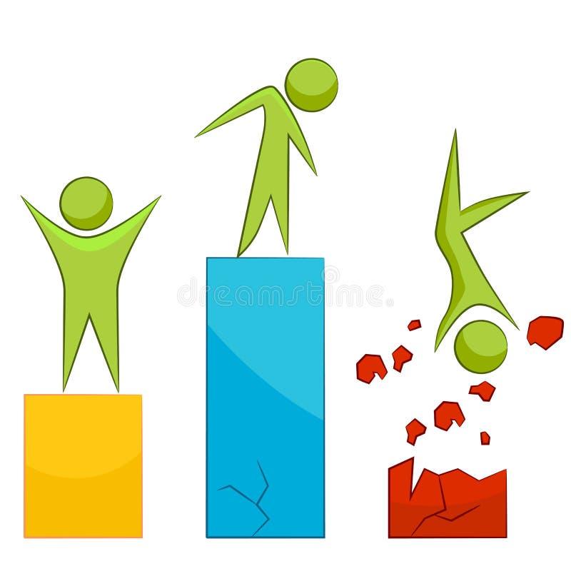 Riskabel metafor för vinstaffärssymbol vektor illustrationer
