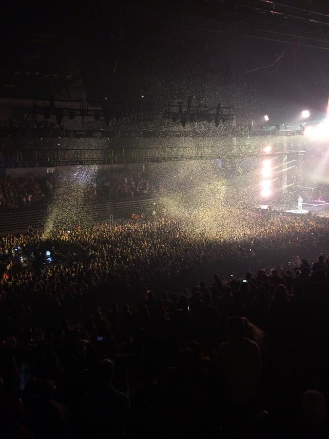 Riskera rapparekonserten royaltyfri foto