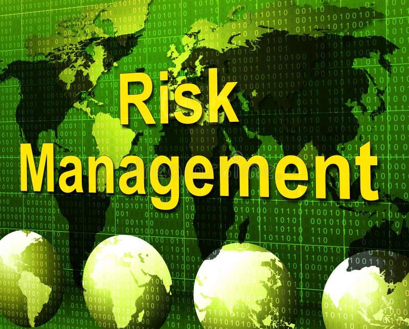 Riskledning betyder myndighetschefen And Administration vektor illustrationer