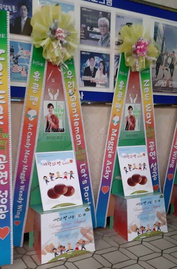 RISKRANSAR PÅ KIM HYUN JOONG NY VÄGkonsert 23/02/19, Busan, Sydkorea fotografering för bildbyråer