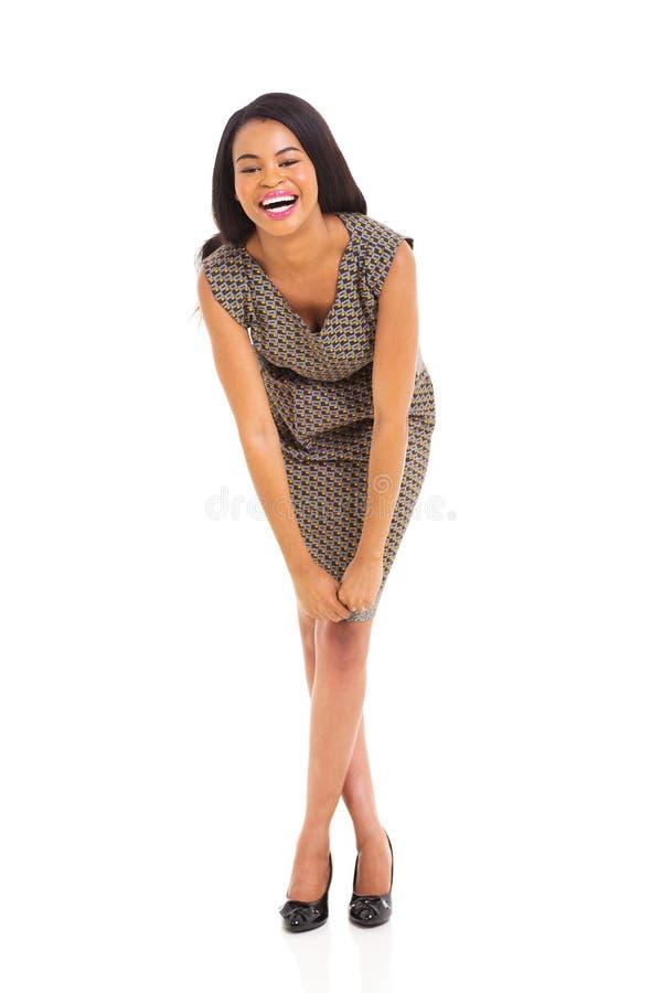 Riso africano da mulher fotografia de stock royalty free