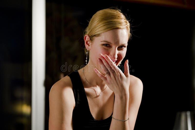 Riso bonito da mulher foto de stock royalty free