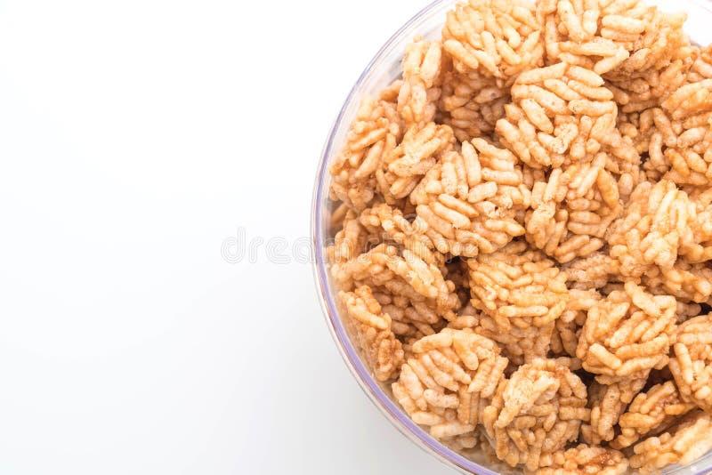 riso croccante salato immagine stock