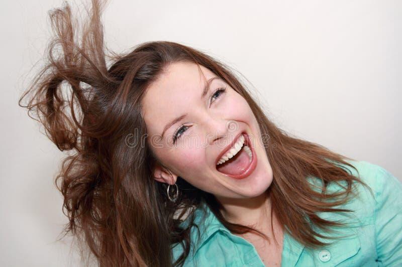 Riso da mulher imagens de stock royalty free