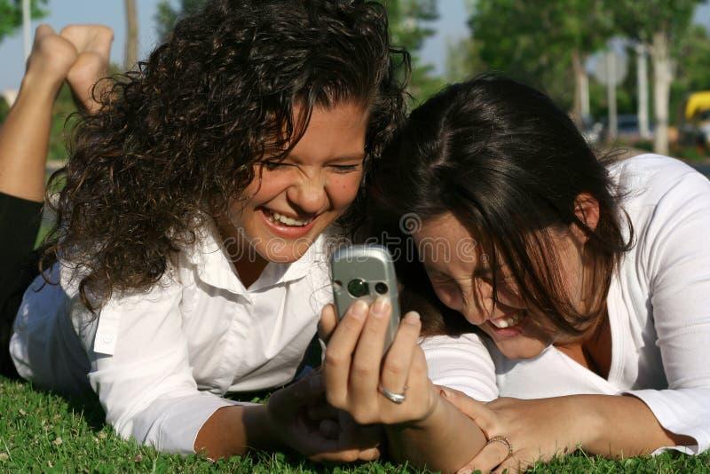 Riso das meninas foto de stock