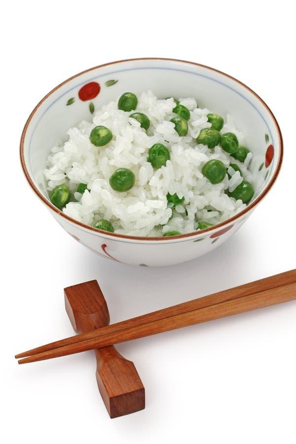 Riso dei piselli, alimento giapponese fotografia stock