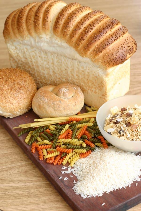 Riso del cereale della pasta del pane fotografie stock