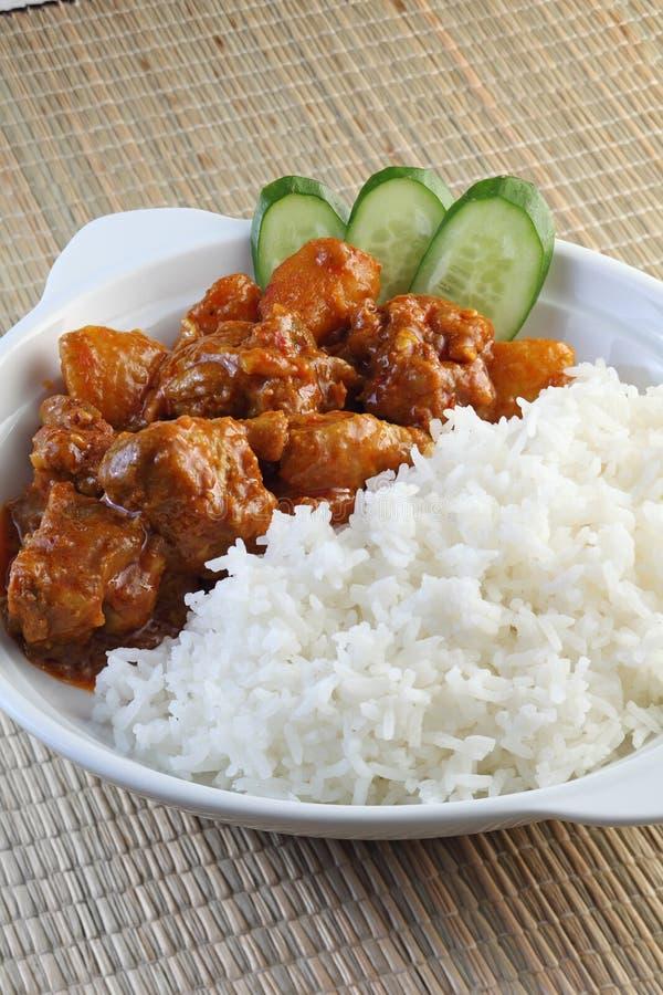Riso del pollo del curry fotografie stock libere da diritti