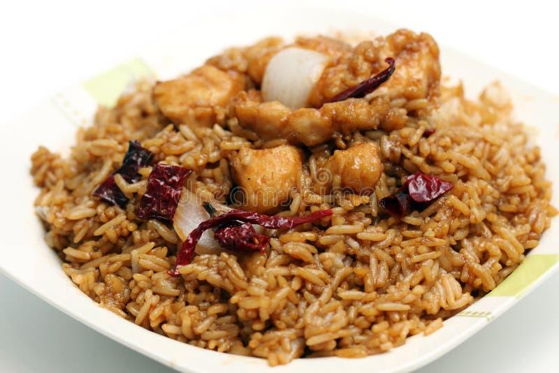 Riso del pollo di Kung Pao immagini stock libere da diritti