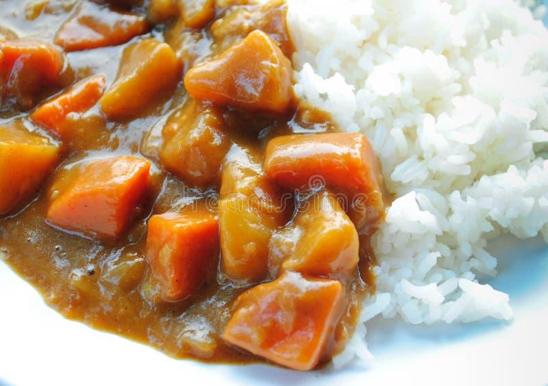 Riso di curry giapponese fotografia stock