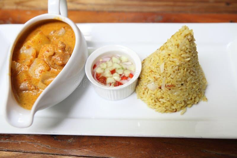 Riso di curry immagini stock