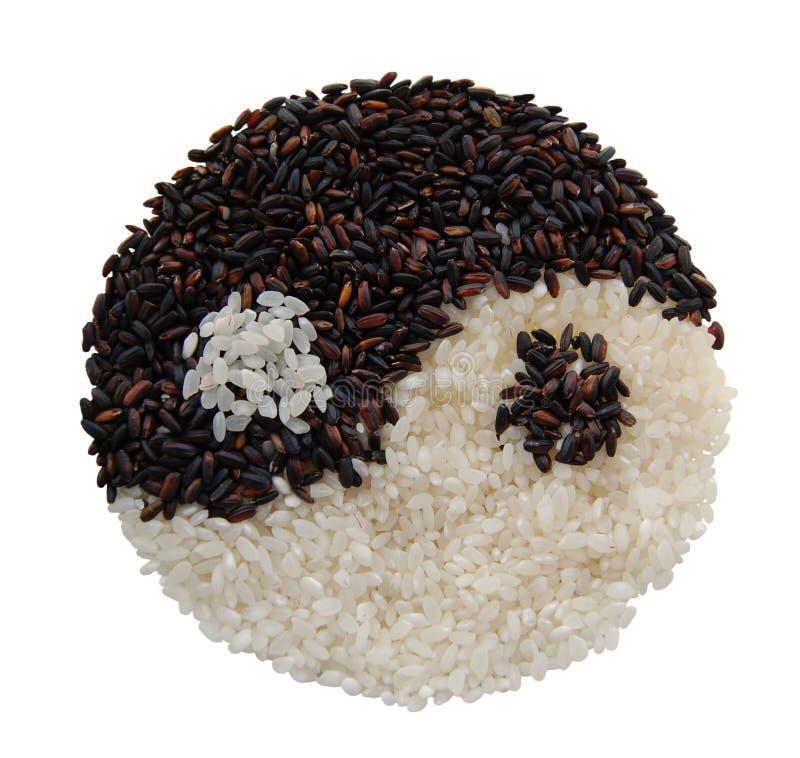 Riso di Yin yang immagine stock libera da diritti