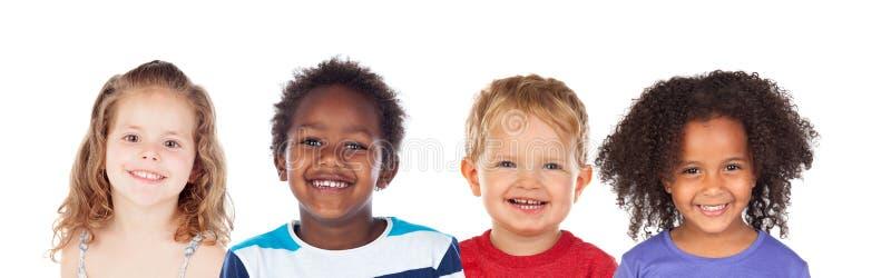 Riso diferente das crianças fotografia de stock royalty free