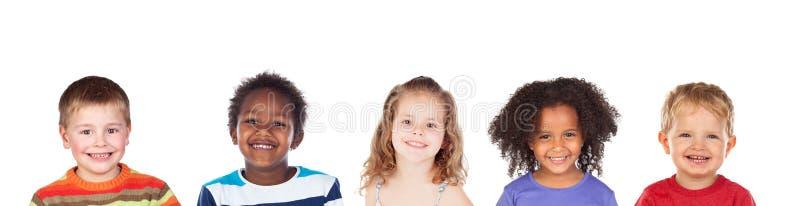 Riso diferente das crianças fotos de stock