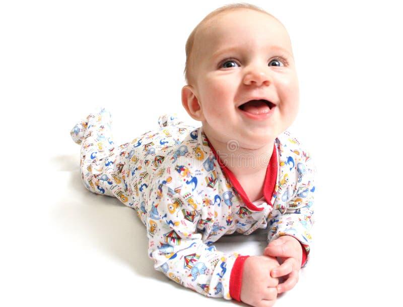 Riso do bebê imagens de stock