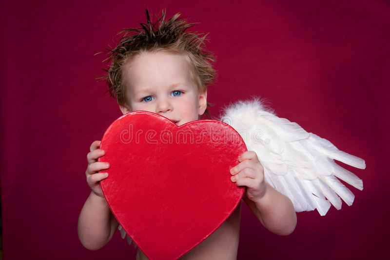 Riso do Cupid fotos de stock