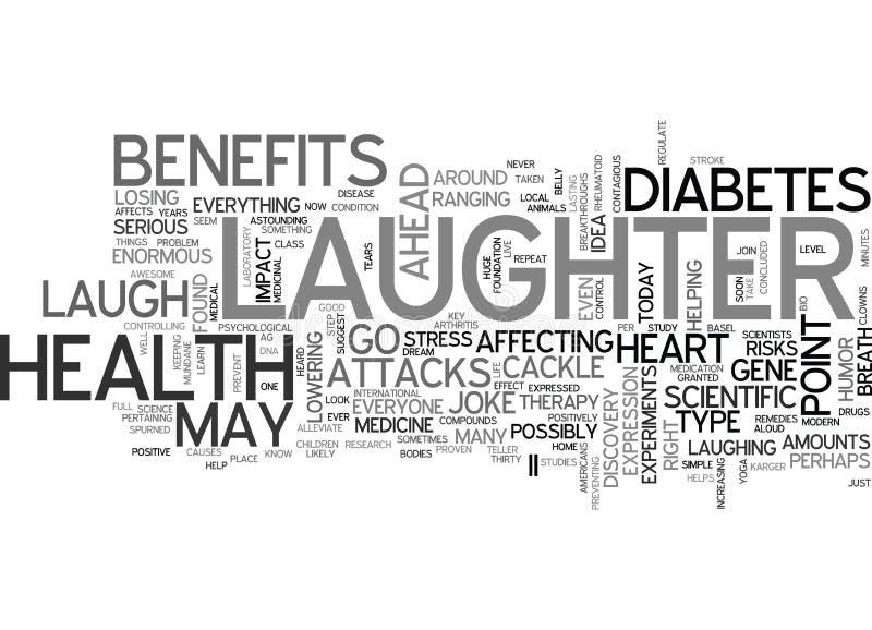 Riso do gracejo de S nenhum é conceito impressionante da nuvem da palavra da medicina ilustração royalty free