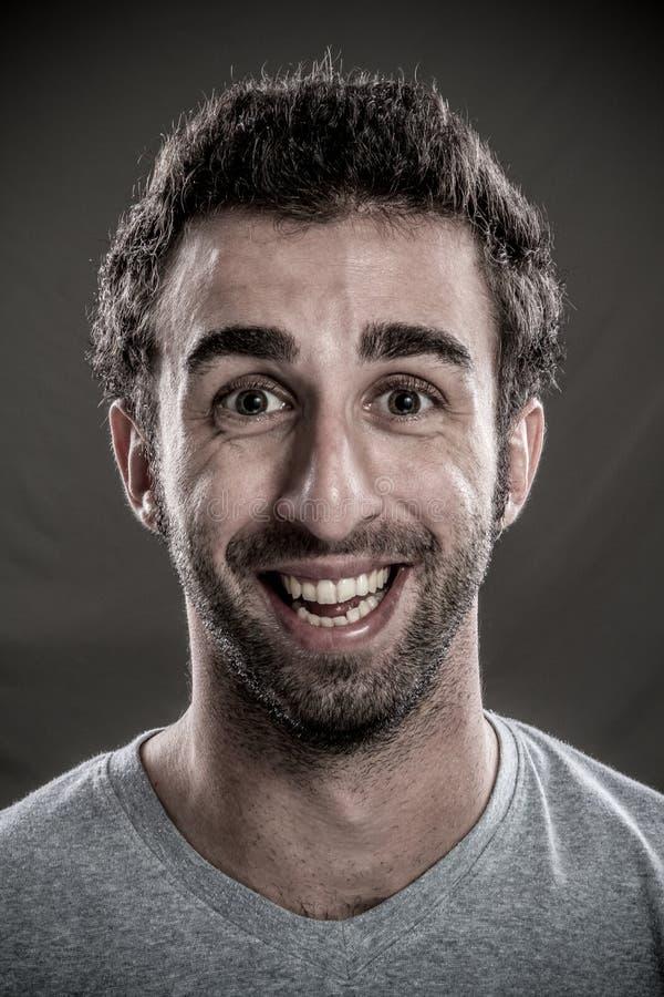 Riso do homem fotos de stock royalty free