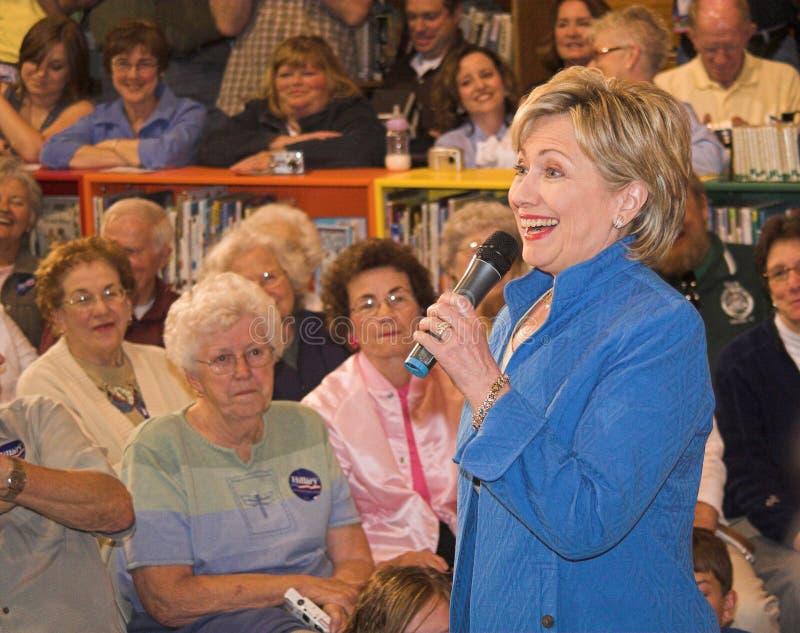 Riso do Senator Clinton imagens de stock