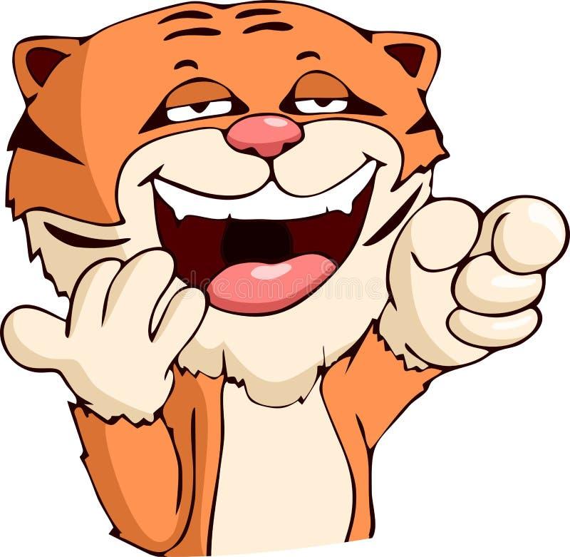 Riso do tigre dos desenhos animados ilustração royalty free
