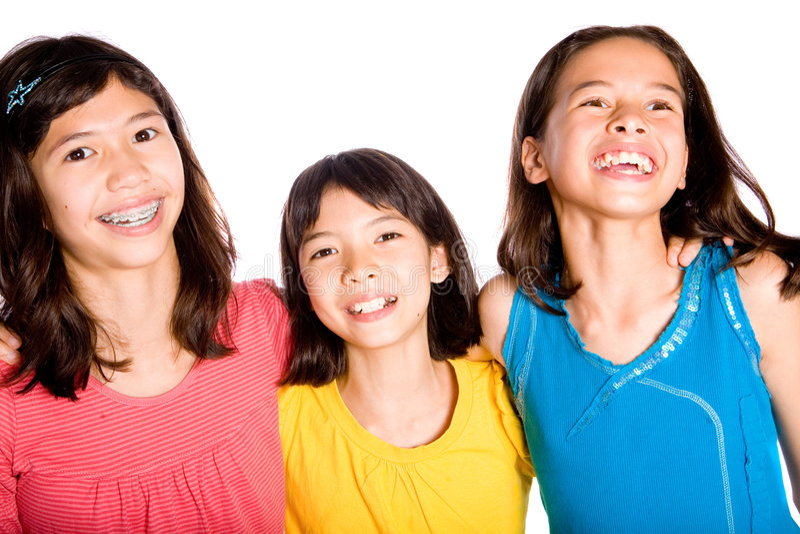 Riso dos melhores amigos (meninas) foto de stock