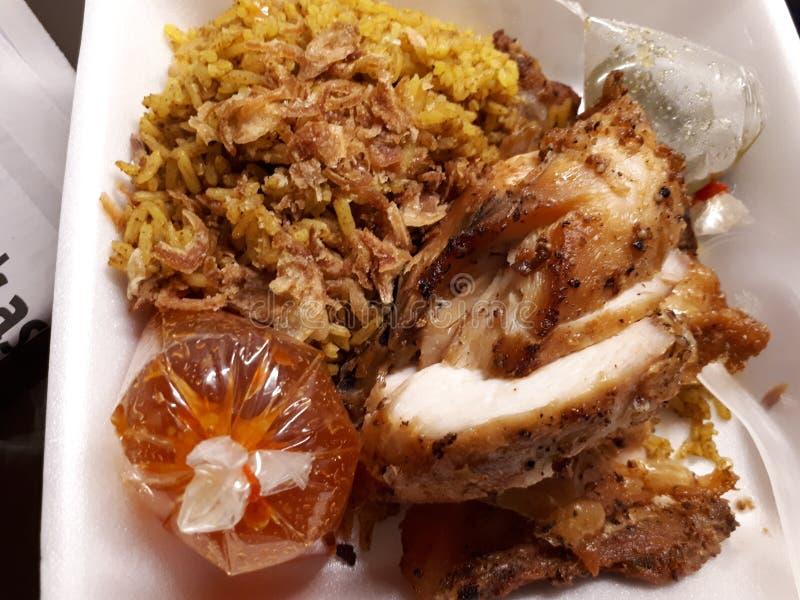 Riso e pollo della Tailandia fotografia stock