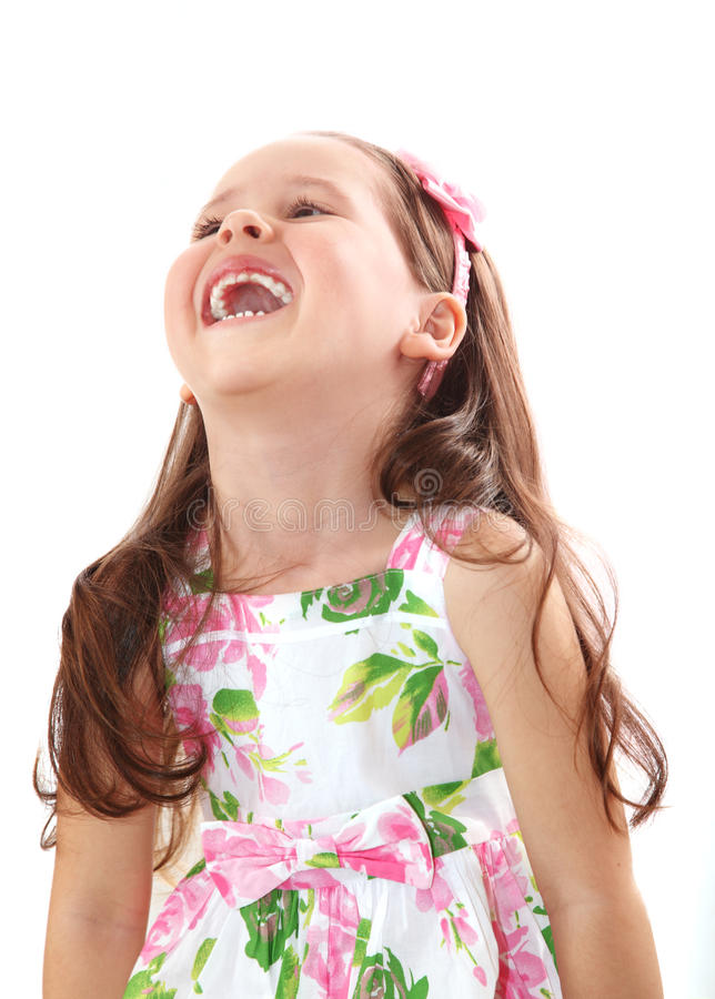 Riso feliz da menina foto de stock royalty free